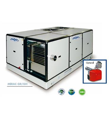 Air to air compact unit with gas burner